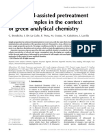 Ultrasound-assisted pretreatment of solid samples in the context of green analytical chemistry