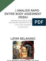 Tugas Analisis Rapid Entire Body Assesment (Reba)