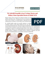 Dr.Anirudh Kaushik is best Urology Doctor and Kidney Stone Specialist Doctor in Delhi NCR.pdf