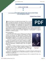 «Introducción Al Pensamiento Pedagógico de Juan Luis Vives» Por Cristina Franco Gómez