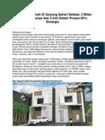 Iklan Dijual Rumah Di Gunung Sahari Selatan, 2 Miliar an Rumah Hanya Ada 5 Unit Dalam Proses- Strategis