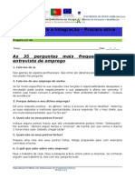 PAE- 35 Perguntas de Entrevista