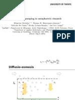 Geometric Pumping in Autophoretic Channels