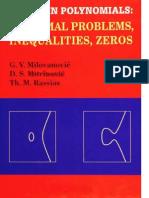 G. v. Milovanovic, D. S. Mitrinovic, Th. M. Rassias-Topics in Polynomials_ Extremal Problems, Inequalities, Zeros-World Scientific Pub Co Inc (1994)