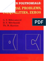 G. v. Milovanovic, D. S. Mitrinovic, Th. M. Rassias-Topics in Polynomials_ Extremal Problems, Inequalities, Zeros-World Scientific Pub Co Inc (1994)