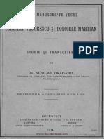 Nicolae Draganu - Codicele Todorescu Si Codicele Martian