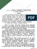 Nicolae Draganu - Din Vechea Noastra Toponimie