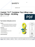 Camlok _CLT_ Container Top Lifting Lugs, Eye Fittings - 56,000kg - LiftingSafety