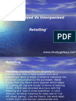 Organized vs Unorganized Retailing