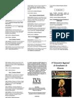 Programa Oficial IV EREH Valparaíso 2013.