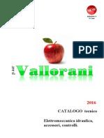 2016 Catalogo Tecnico vendita pompe p.aer VALLORANI
