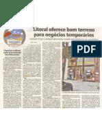 Litoral oferece bom terreno para negócios temporários