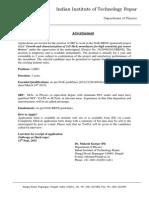 Notification IIT Ropar JRF Posts2