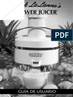 Guia de usuario POWER JUICER