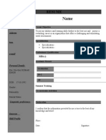 Resume Format (1)