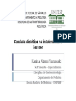 Conduta Dietetica Na Intolerancia a Lactose