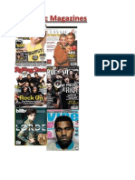 10 Examples of music magazines