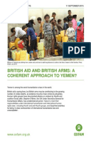 British Aid and British Arms: A coherent approach to Yemen?