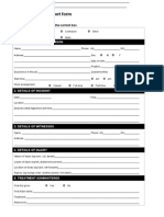 Injury Incident Report Form