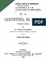 Tratado de Construccion en Madera 1899 Luis Gaztelu Carpinteria de Armar