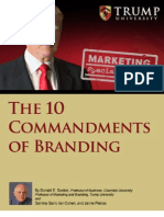 10 Commandments of Branding by Donald Trump