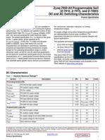 Ds187 XC7Z010 XC7Z020 Data Sheet