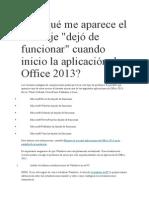 Solucion complementos de Office 2013