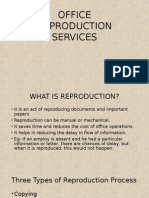 Office Reproduction Services