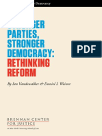 Stronger Parties,Stronger Democracy
