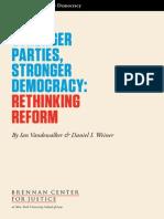 Stronger Parties,Stronger Democracy