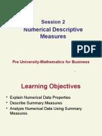 Numerical Descriptive