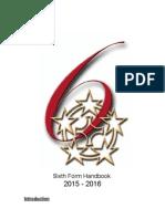 Sixth Form Handbook 2015 - 2016
