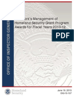 """Preview of """"OIG-15-107 New York's Management of Homeland Security Grant Program Awards for Fiscal Years 2010-12 - OIG_15-107_Jun15.pdf"""".pdf"""