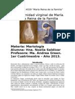 Monografia de Mariología