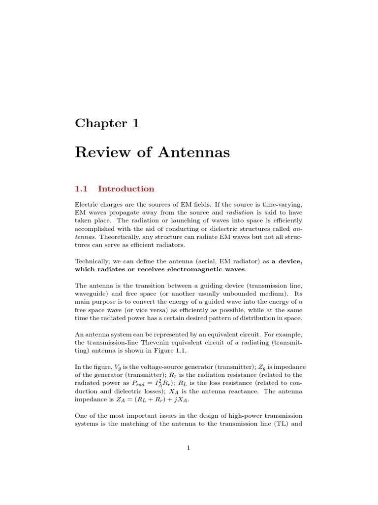 Review Of Antennas Antenna Radio Transmission Line Figure Matching Circuit