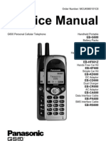 Panasonic G600 Service Manual