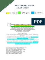 Diário Trabalhista 10.09.2015