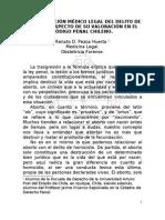 INTERPRETACIÓN MÉDICO LEGAL DEL DELITO DE ABORTO RESPECTO DE SU VALORACIÓN EN EL CÓDIGO PENAL CHILENO.