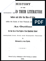 History of the Arabs and their Literature - E. Van Dyck (1894)