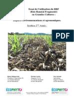 Evaluation de l'utilisation du BRF en grandes cultures_2013