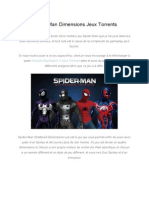 Spider ManDimensionsJeuxTorrents