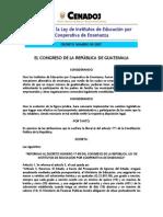Ley de Instituto de Educacion Por Cooperativa Enseñanza