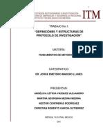 Definiciones y Estructuras de Protocolo de Investigacion