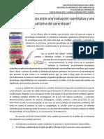Evaluación cuantitativa y cualitativa del aprendizaje