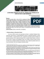 A Reforma Urbana Do Rio de Janeiro Nas Crônicas De