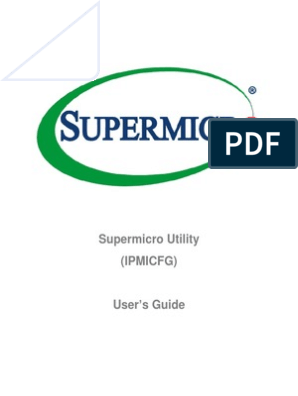 Supermicro Utility User Guide IPMICFG | Command Line