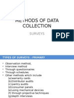 Methods of Data Collection - Surveys