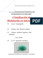 Cristalizacion melanterita laboratorio