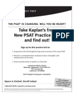 New PSAT Practice Test at Lawrence Library