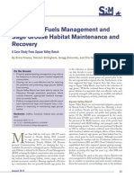26. Grazing for fuels management and sage grouse habitat maintenance and recovery - 2013